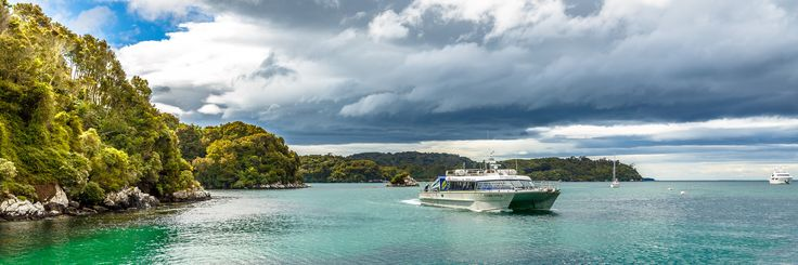 Stewart Island Ferry, the Southern Express, off on her daily rounds. Not a bad office, really.