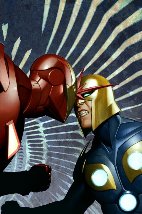Iron Man Vs Nova By Adi Granov D C Marvel Etc