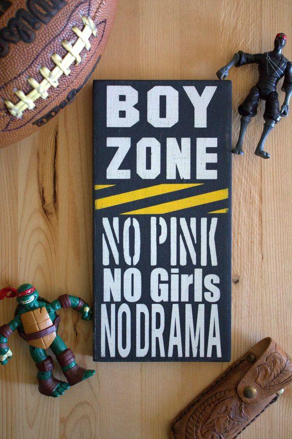 dbd7b6d04885e Boy's Room Sign, Boy Zone, No Girls Allowed Sign, Sign for Boy's ...