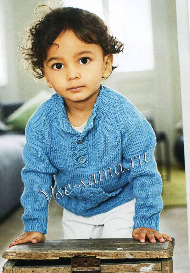 Пуловер с карманом-кенгуру для мальчика, фото