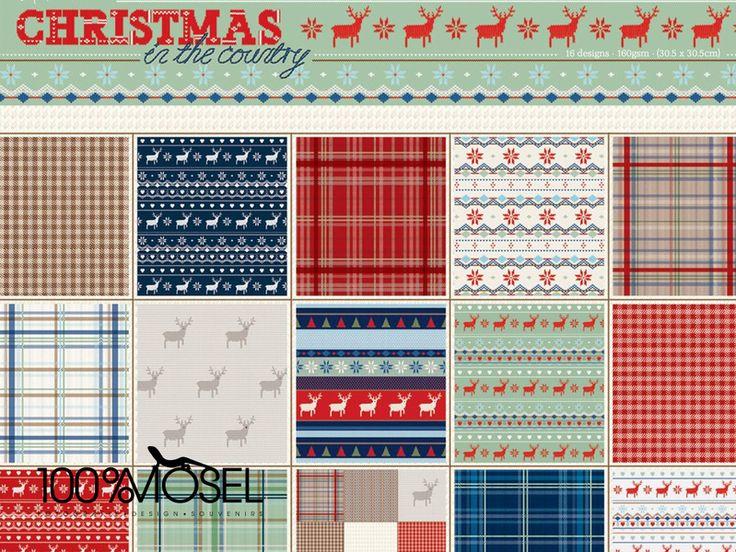 """32 Blatt 12 x12"""" Scrapbookingpapier Weihnachten von 100%Mosel auf DaWanda.com"""