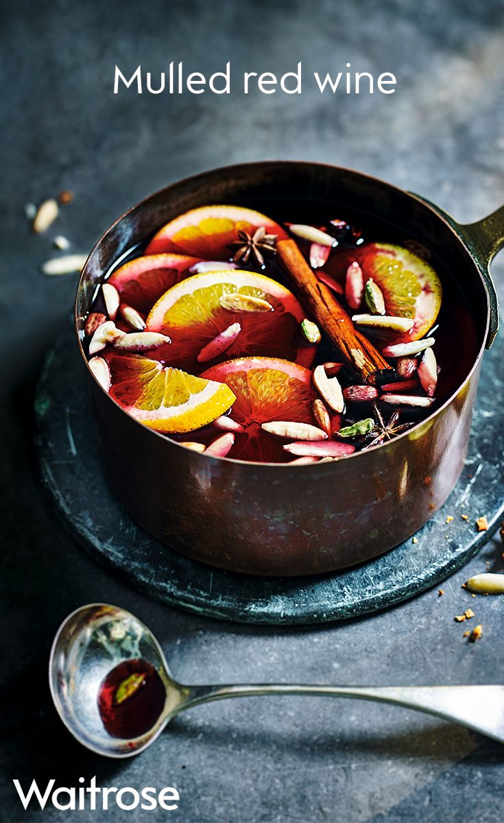 Nothing beats a warming glass of mulled red wine during the festive season. This recipe is perfect for a gathering - garnish with toasted almonds, extra orange slices and cinnamon sticks.  When hosting, serve in a pan with a ladle and let people help themselves. See the full recipe on the Waitrose website.