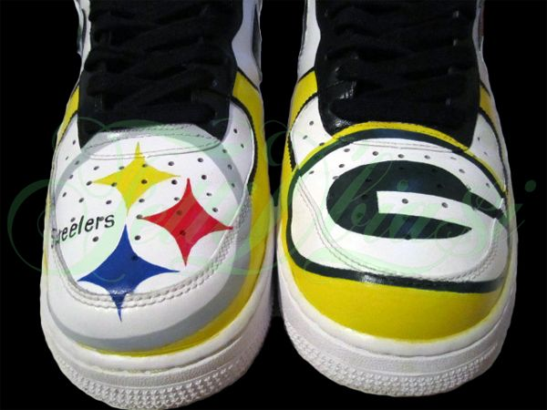 Pittsburgh Steelers vs. Green Bay Packers Super Bowl Custom Shoes