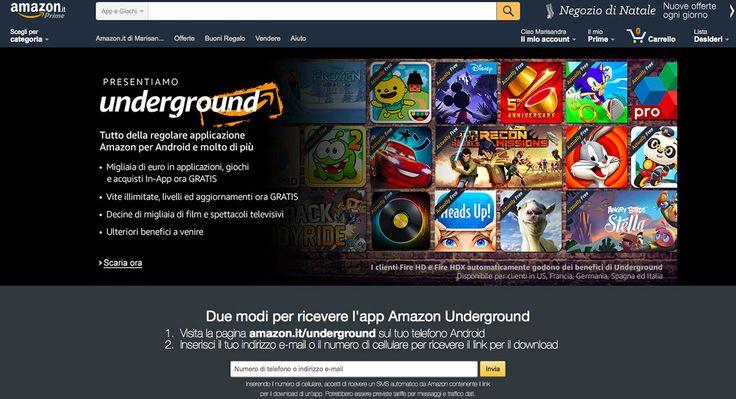 E' da oggi attiva anche in #Italia, e in altri paesi, #AmazonUnderground, la nuova app per smartphone #Android
