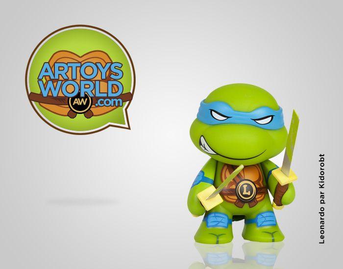 Figurine Tortue Ninja Leonardo par Kidrobot ! #Artoysworld #VinylToy #ArtToy