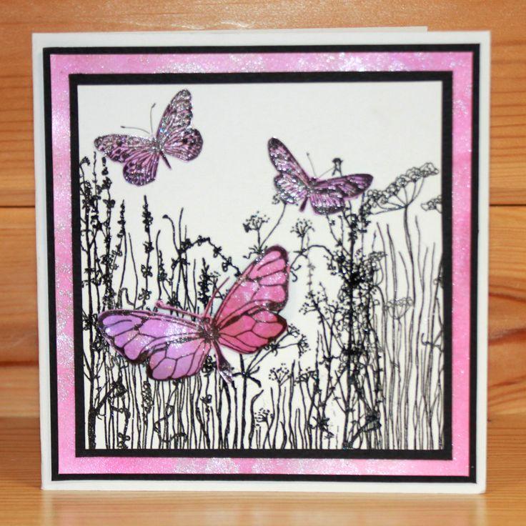 CS193D Janie's Collection - Butterflies CS193D Janie's Collection - Butterflies CS193D Janie's Collection - Butterflies Clear stamp set from Hobby Art Stamps. Card by Janie Burnett-bleach