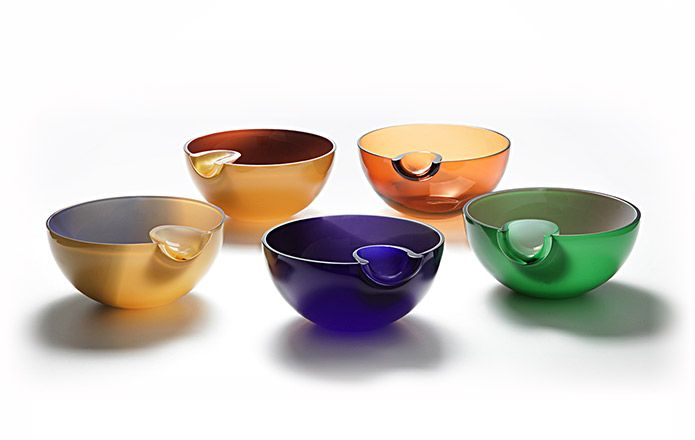 Glass bowl DIMPLE from Rostislav Materka