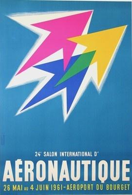 24eme salon aeronautique by guy georget 1961 graphique pinterest by and salons - Salon aeronautique bourget ...