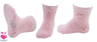 Little Grippers Stay Baby Socks Baby Pink
