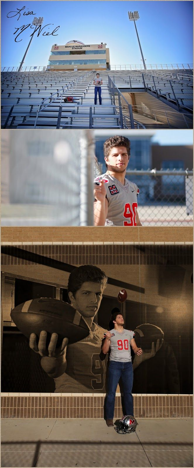 Senior pictures for guys, Click the pic for 25 more photos of handsome football player, senior photos, senior portraits, ideas for football, Flower Mound, Dallas photographer Lisa McNiel