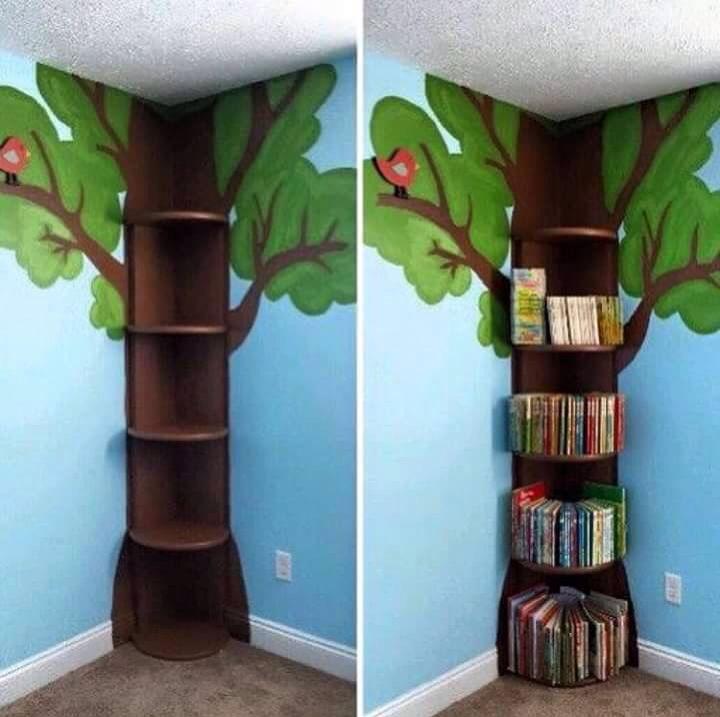 Árvore com livros
