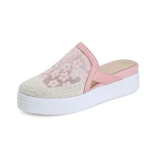 Zapatos Cuñas Plataforma Cerrados Tipo de tacón Tejido Cuero