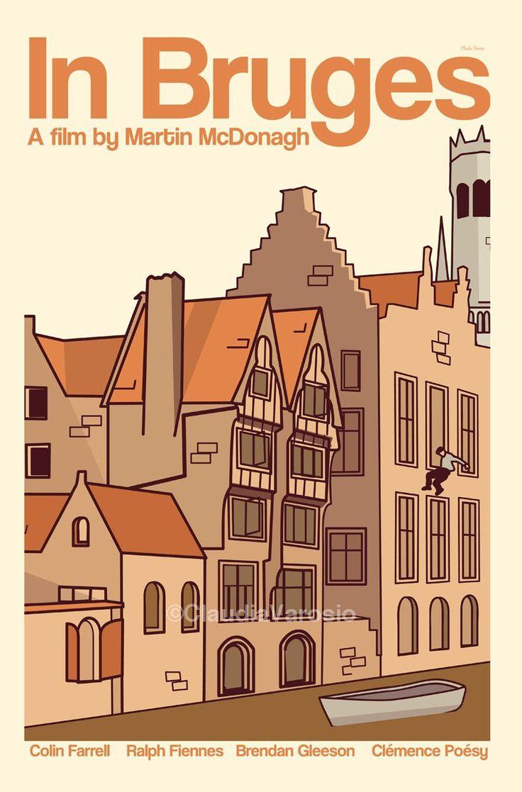 In Bruges (2008) - Minimal Movie Poster by Claudia Varosio #minimalmovieposter #alternativemovieposter #claudiavarosio