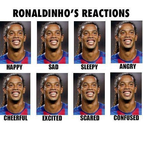 Brazylijczyk kiedy jest smutny, wesoły, śpiący, przestraszony, szczęśliwy, zły • Reakcje Ronaldinho Gaucho • Wejdź i zobacz więcej >> #ronaldinho #football #soccer #sports #pilkanozna