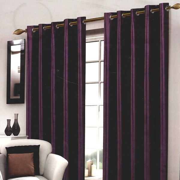 Wessex Purple Eyelet Curtain