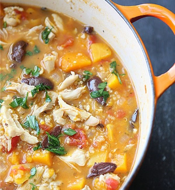 Chicken Butternut Squash Stew With Quinoa