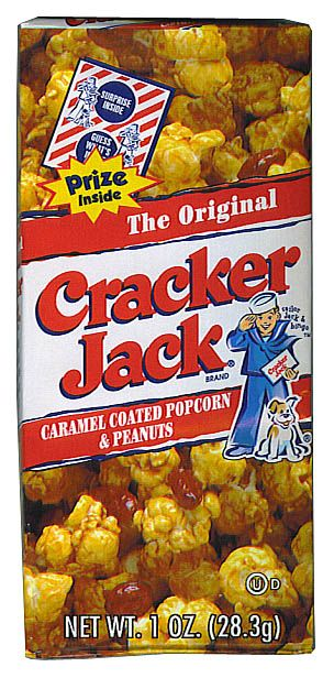 What a treat...eating cracker jacks and finding the prize inside!!!