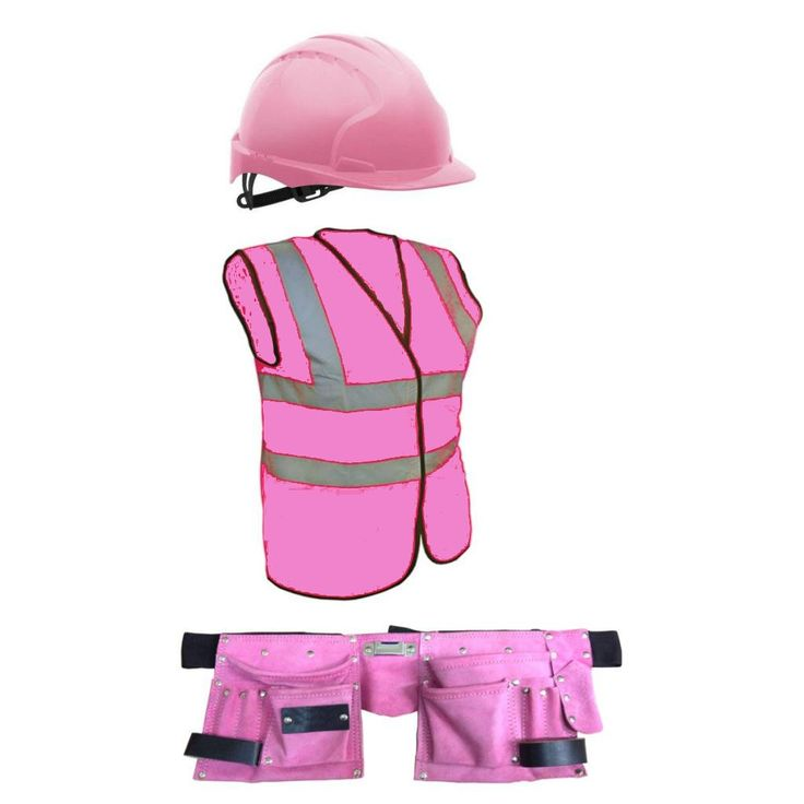 Details About Girls Pink Brick Layers Outfit Builders