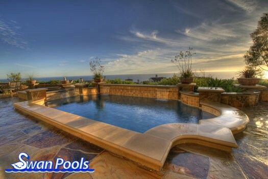10 best poured in place concrete coping images on for Raised pool designs