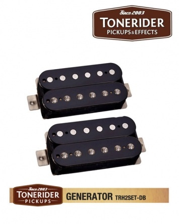Tonerider Generator Humbucker Set – Black Cut through the mix and demand to be heard! A full-blooded, harmonically rich neck pickup delivers rock and blues tones with power to spare, while the high-output bridge pickup can take you from bluesy rock to screaming solos. Rolling off the volume knob reveals great, useable clean tones. £69.90