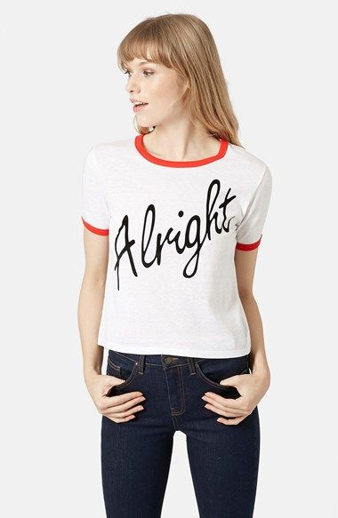 Topshop+'Alright'+Tee+(Brit+Pop-In)+(Nordstrom+Exclusive)+available+at+#Nordstrom