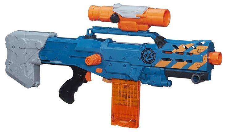 Nerf Gun Zombie Strike ZED Squad Longshot CS-12 Blaster Outdoor Kids Boys Toys #Nerf