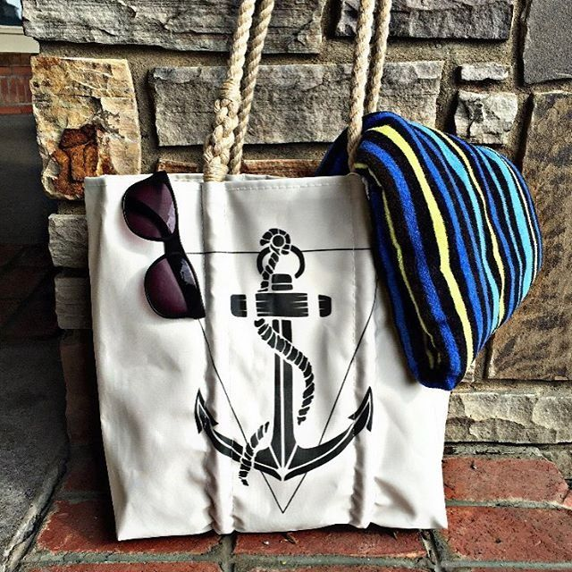 ALEX AND ANI Anchor Sea Bag Tote