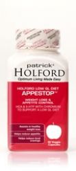 Appestop is the perfect supplement when following the Holford low-GL diet as it combines the three supporting nutrients Patrick Holford recommends – Garcinia Cambogia, African Griffonia and Chromium. Dosage: Take 1 capsule 3 times daily with food, or as directed by your healthcare practitioner.