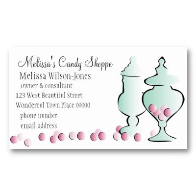 42 best biz card images on pinterest business cards carte de jars with pink candy business card reheart Choice Image