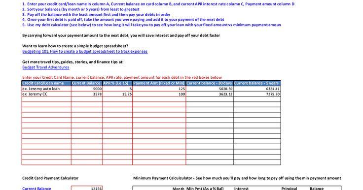 Debt Interest CalculatorXlsx  Random    Calculator