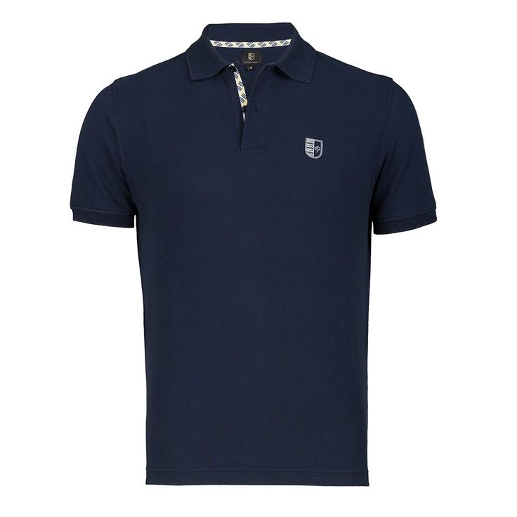 Short sleeve knit polo - Cotton Seed. Find it on unikstore.com. #unikstore #shop #polo #classic #style #navy #blue