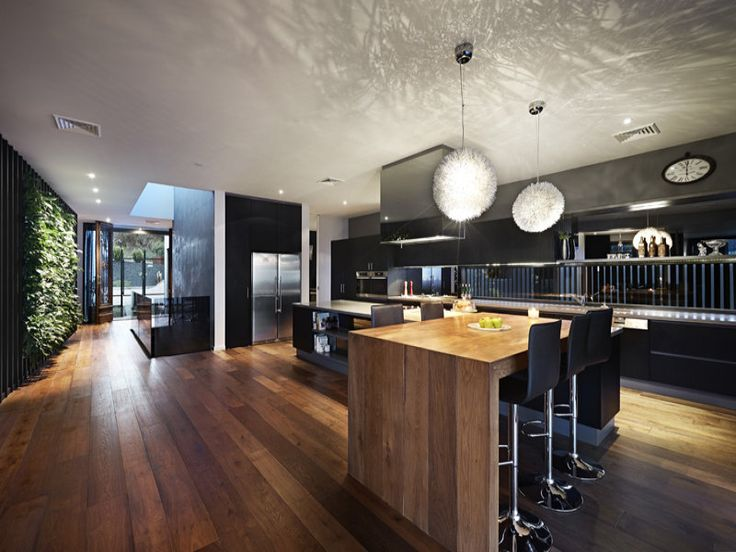 Wood panelling in a kitchen design from an Australian home - Kitchen Photo 8680841