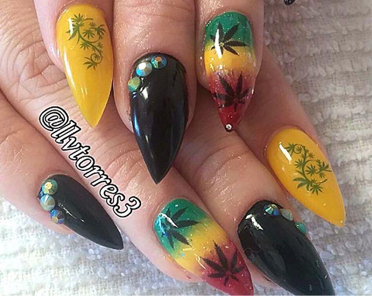 Best 25 weed nails ideas on pinterest long nails matt nails marijuana pot leaf nail art decals set 2 prinsesfo Image collections