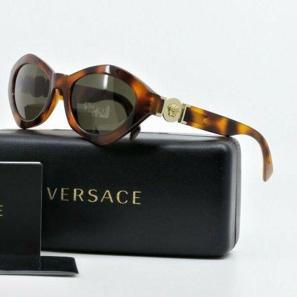 VERSACE Unisex Retro Tortoise//Gold Sunglasses w// Box MOD 4334 5119//71 54mm