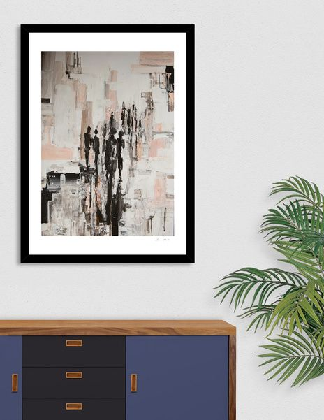 """Discover «""""Lost in the crowd""""», Exclusive Edition Fine Art Print by Bianca  Paraschiv Art - From $25 - Curioos"""