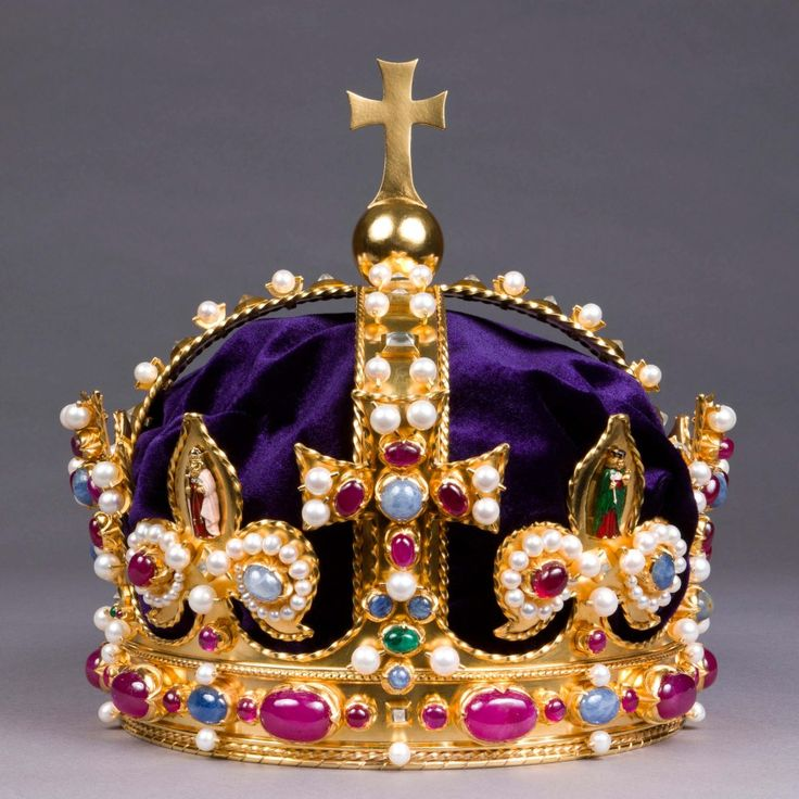 Lost Crown of Henry VIII is recreated almost 400 years after being destroyed. The original was melted after Charles I was beheaded, but not before he was portrayed in thorough detail in a portrait. The stones and precious pearls of the replica of the Crown of Henry VIII are real. The Crown may have been made for Henry VIII's father, Henry VII, and was used in the Coronations of his sons Edward, Mary and Elizabeth, and later on of James I and Charles I.