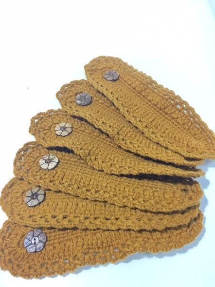 Lot de 6 rond de serviette au Crochet 100 % coton par homeyshopbyBM