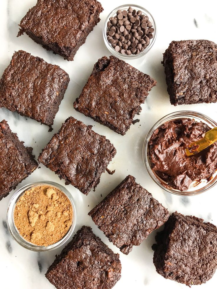 Chocolate Frosted Zucchini Bread Brownies that are grain and dairy-free. Made with simple ingredients and an easy chocolate frosting recipe!