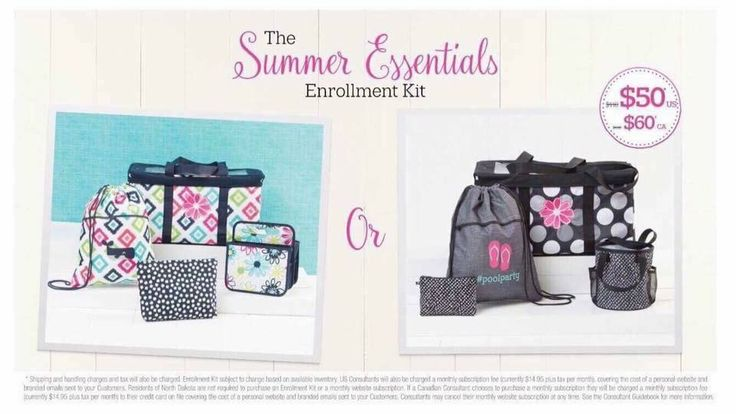 Two summer enrollment kits! Gives you four options to start your business! Join my team in April and I will show you how to earn a minimum $840 worth of Thirty One product for FREE!!