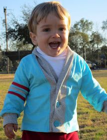 Staying Steyn: Little Man Letterman Sweater Tutorial