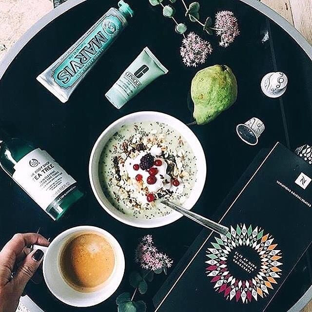 """From @marvis.france Experience international luxury FOLLOW US. """"The perfect morning essentials"""" avec M A R V I S Toothpaste - Distribué en France par @aegis.pharma : @nati_beltseva  #Marvis #MarvisToothpaste #toothpaste  #madeinitaly #firenze  Stylish morning classicmint nespresso  mint mornig flatlay instacoffee coffeegram glam luxurygoods luxurylife upperclass trendy instagood essentials hotellife Hotel amenities"""