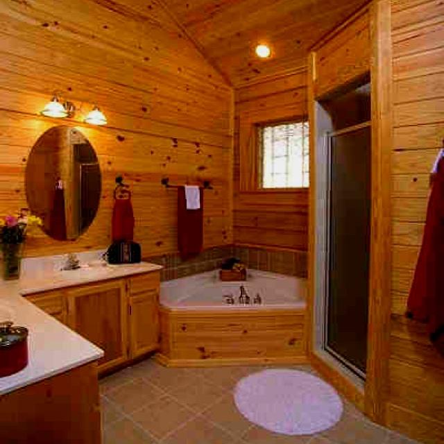 log cabin bathroom i want