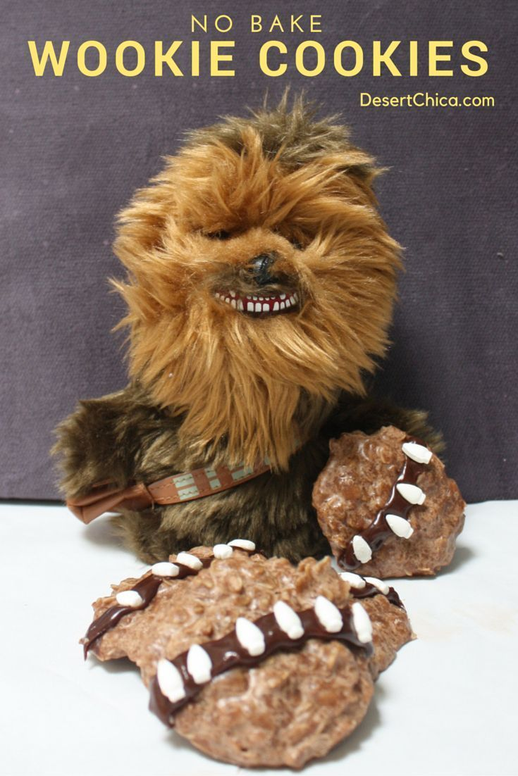 Easy No Bake Wookie Cookies that pay homage to Han Solo's partner in crime, Chewbacca. Both are set to appear in the new film, Star Wars: The Force Awakens.