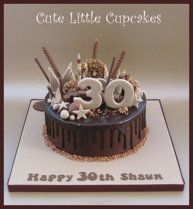 30th Birthday Chocolate Drip Cake X Tropfkuchen Torte 30