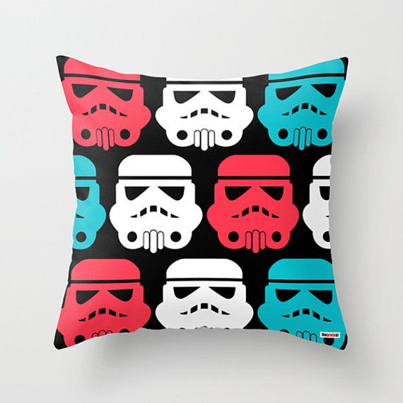Star wars pillow cover - Decorative throw pillow - Christmas gift - kids baby room decor - boys room decor - teenage bedroom - Modern pillow on Etsy, $55.00
