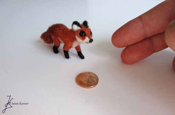 Needle Felted Red Fox in Scale 1:18 by KernertJuergeneering
