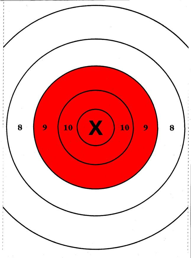It's just a picture of Handy Printable Pistol Targets 8.5 X 11