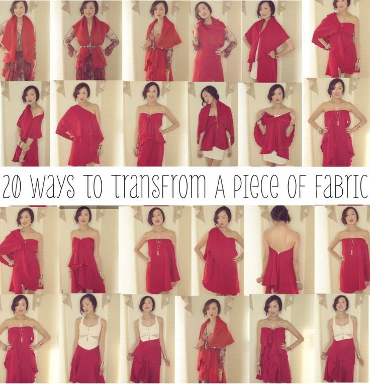 Chriselle shows 20 ways to transform a piece of fabric into various articles of clothing, from scarf to skirt to dress!
