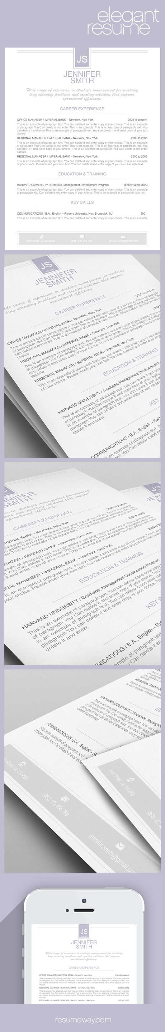 elegant resume template 110460 premium line of resume cover letter templates easy edit with ms word apple pages good idea selected by