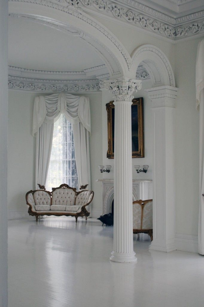 17 best images about greek revival on pinterest virginia - Classic white interior design ...